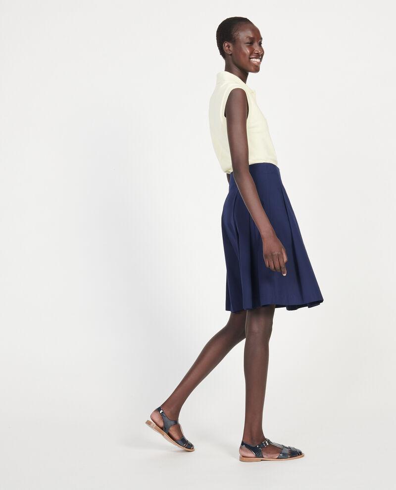 Cotton skirt Maritime blue Listille