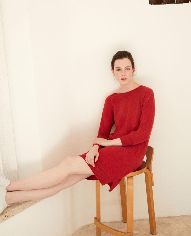 Cashmere dress Pompeian red Gervina