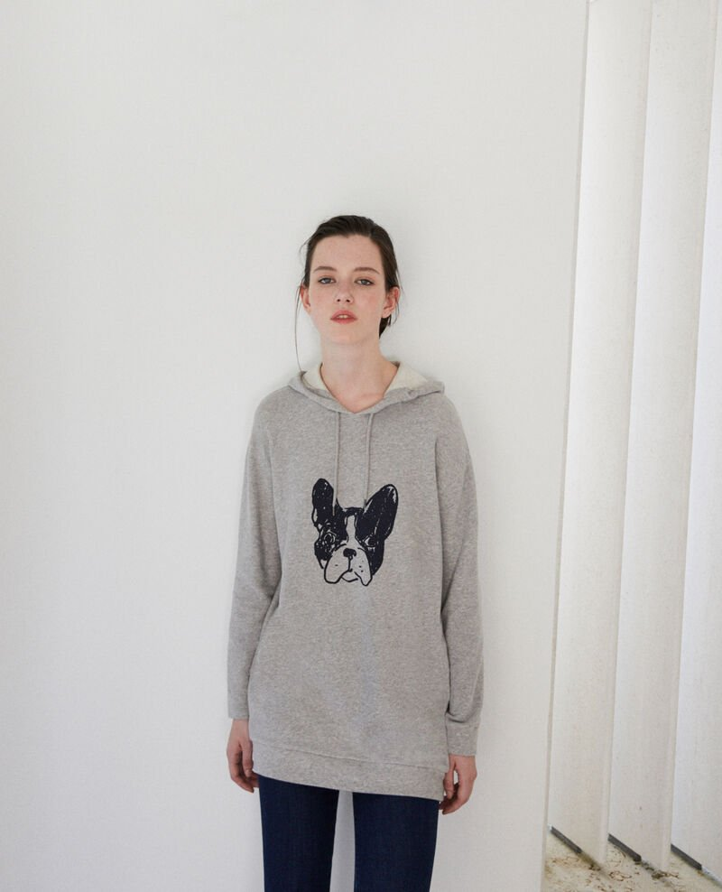 Léon hooded sweatshirt Grey Guetto