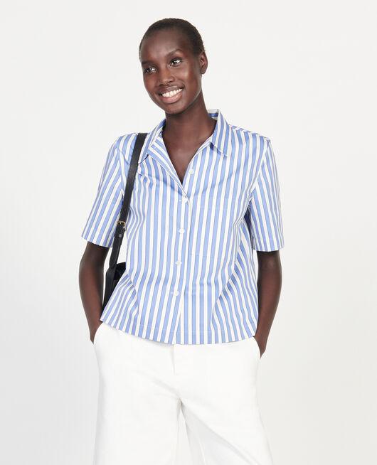 Cotton shirt STRIPES LIGHT GREY PERSIAN JEWEL