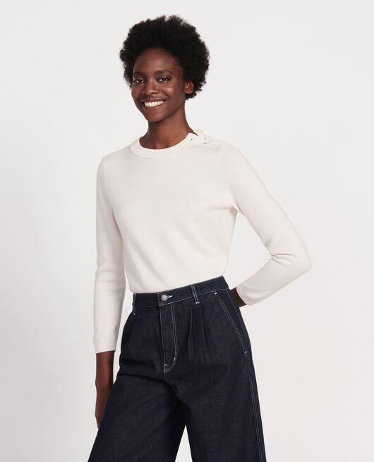 Classic wool jumper GARDENIA