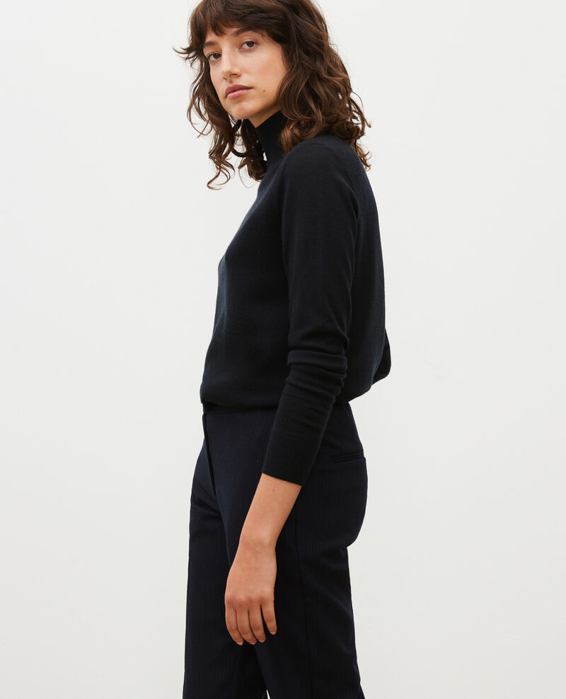 Turtleneck merino wool jumper Black beauty Malleville