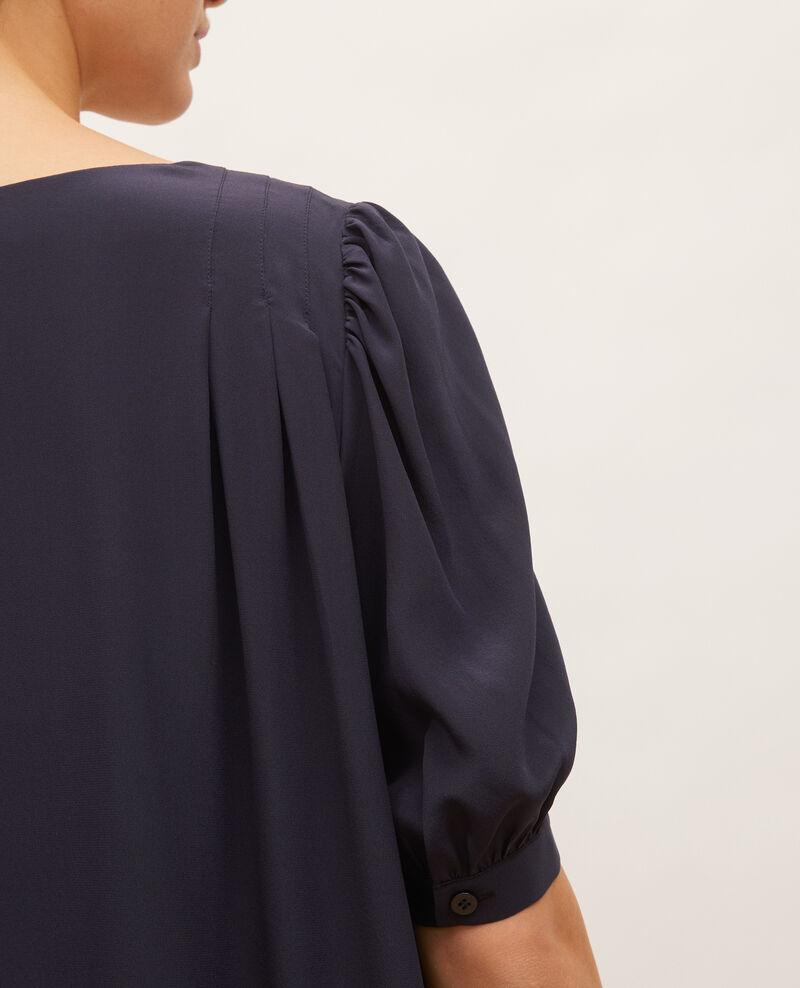 Floaty v-neck silk maxi dress Night sky Manthes