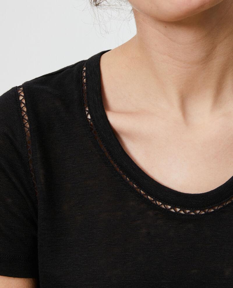 Linen T-shirt Black beauty Lye