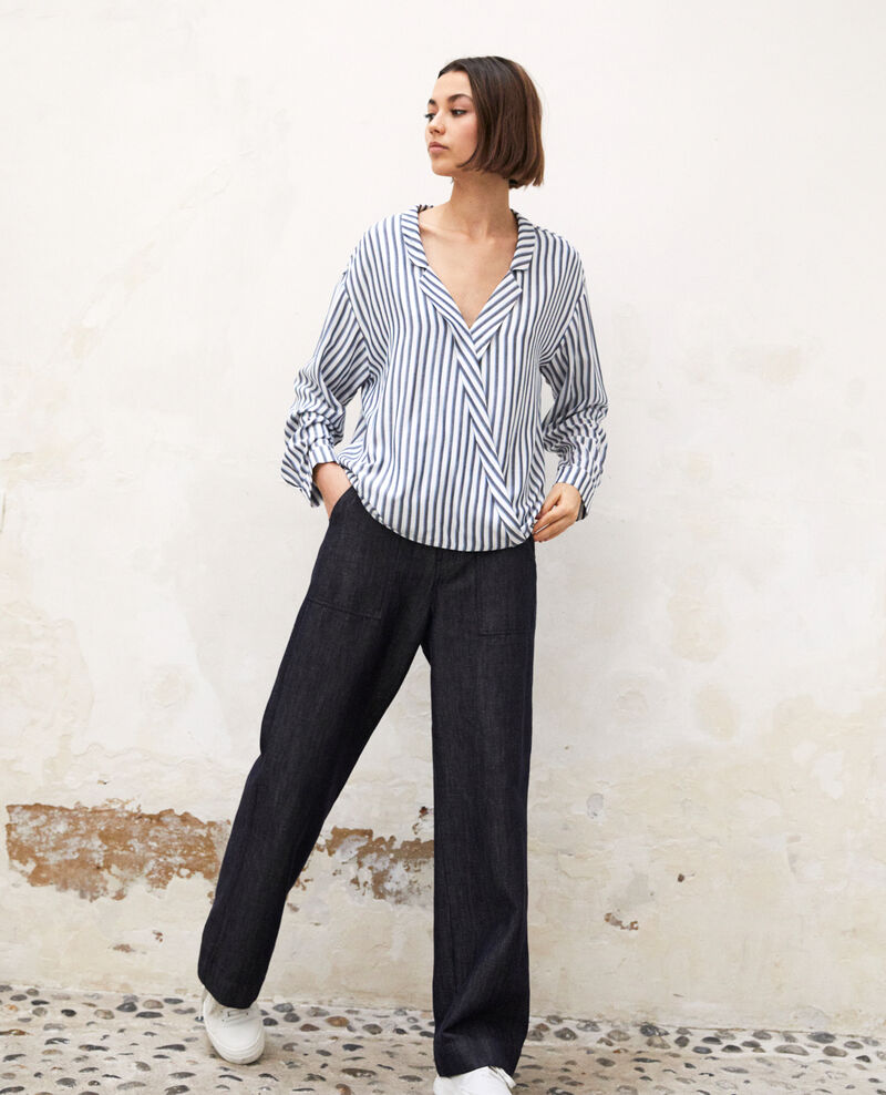Pyjama-style shirt Off white Gladys