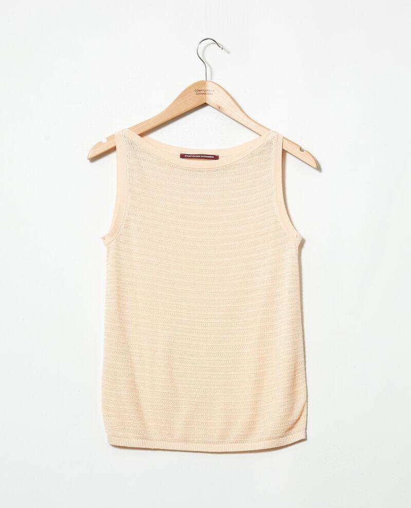Novelty knit vest Light pink Ipitti
