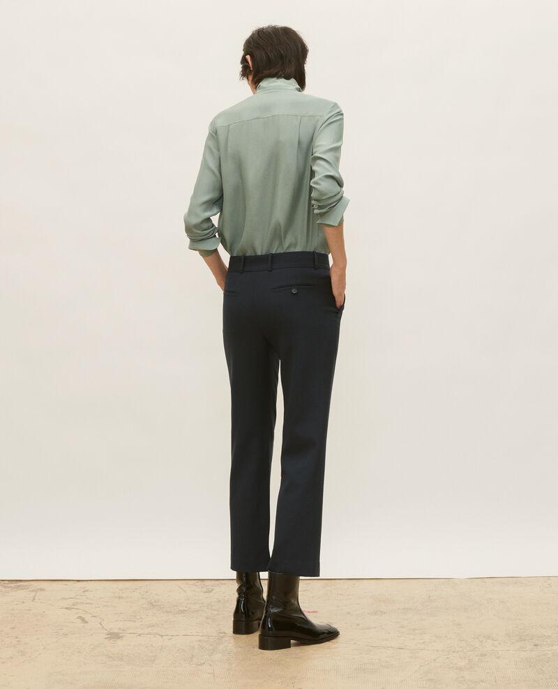 Smooth wool boyfriend trousers Dark navy Lalye