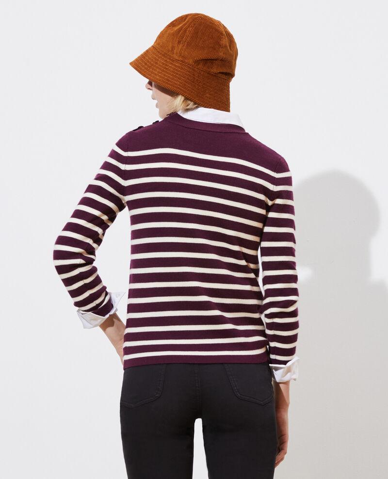 MADDY - Striped wool jumper Stp prpl jtst Liselle