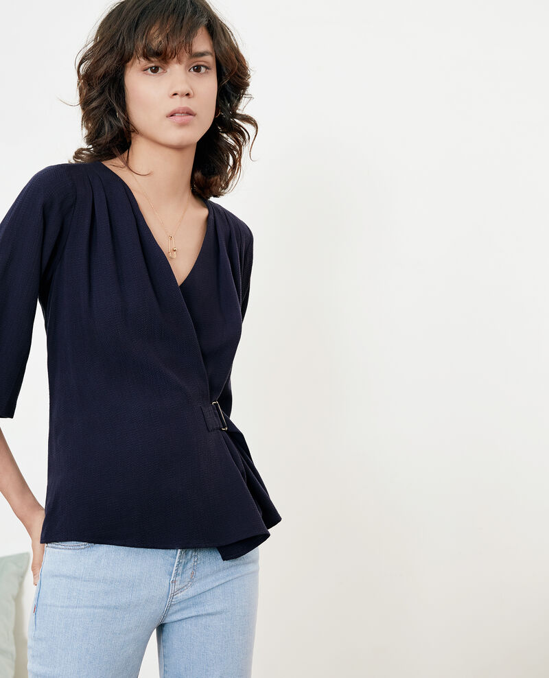 Blouse with buckle Marine Facinant