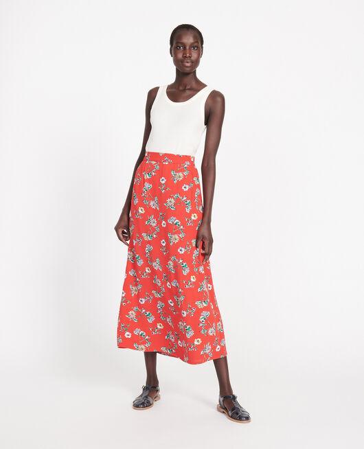 High-waist skirt HERBIER FIERY RED HAZE