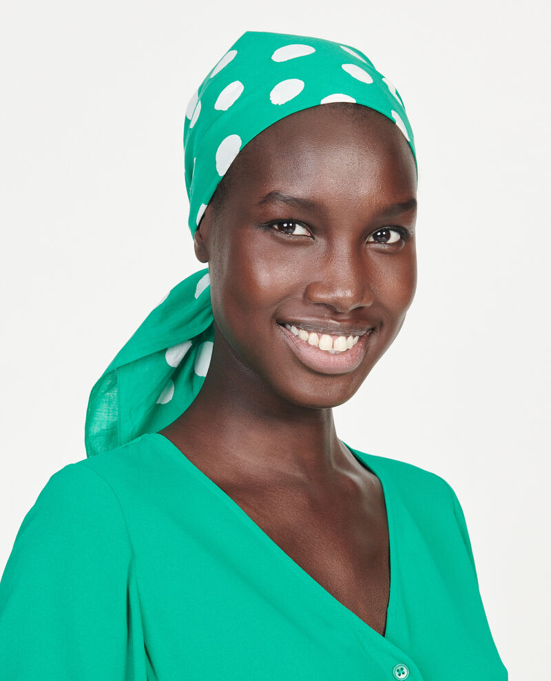 Cotton scarf Golf green Lury