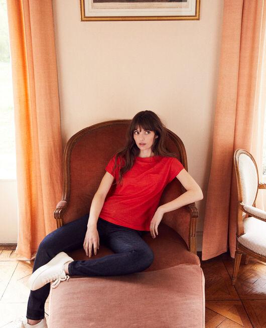Boatneck t-shirt MOLTEN LAVA