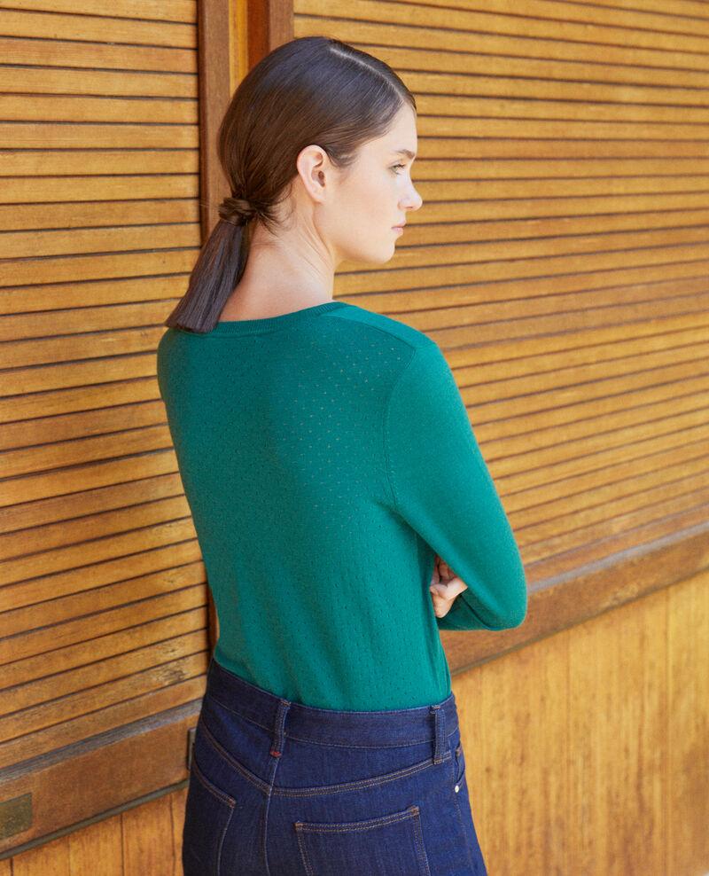 Merino wool cardigan Evergreen Godard