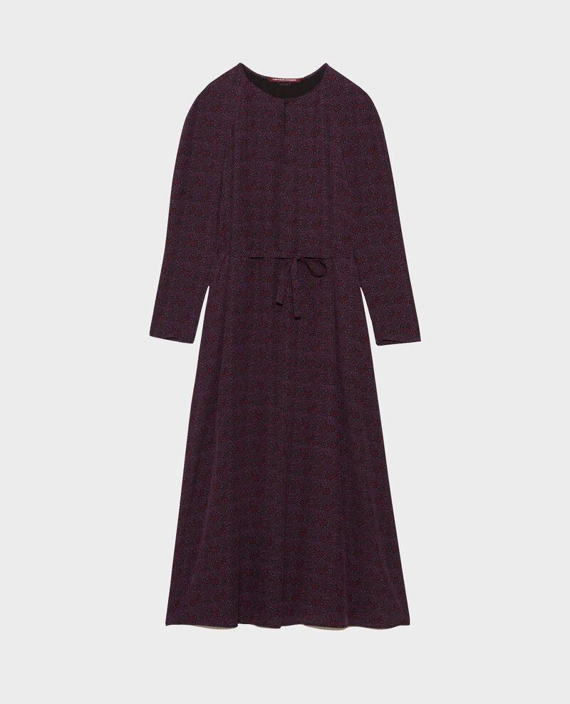 Silk maxi dress Paisley purple Paarsa