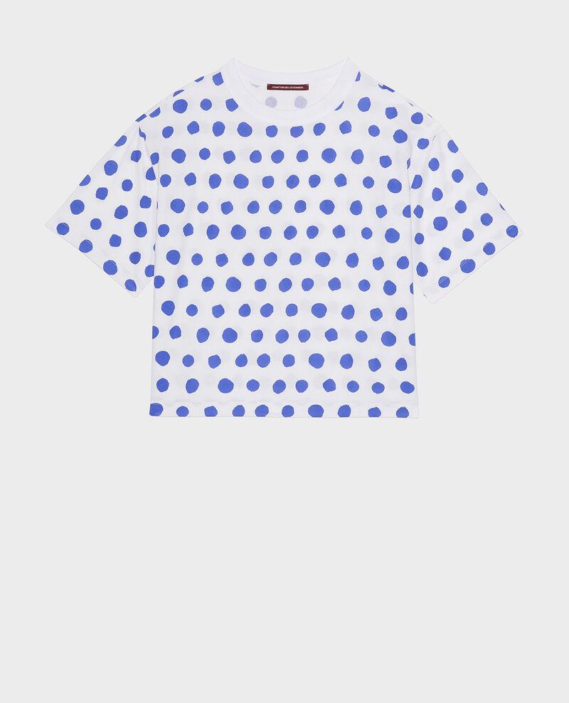Boxy cotton t-shirt Dots amparo blue Lenoyer