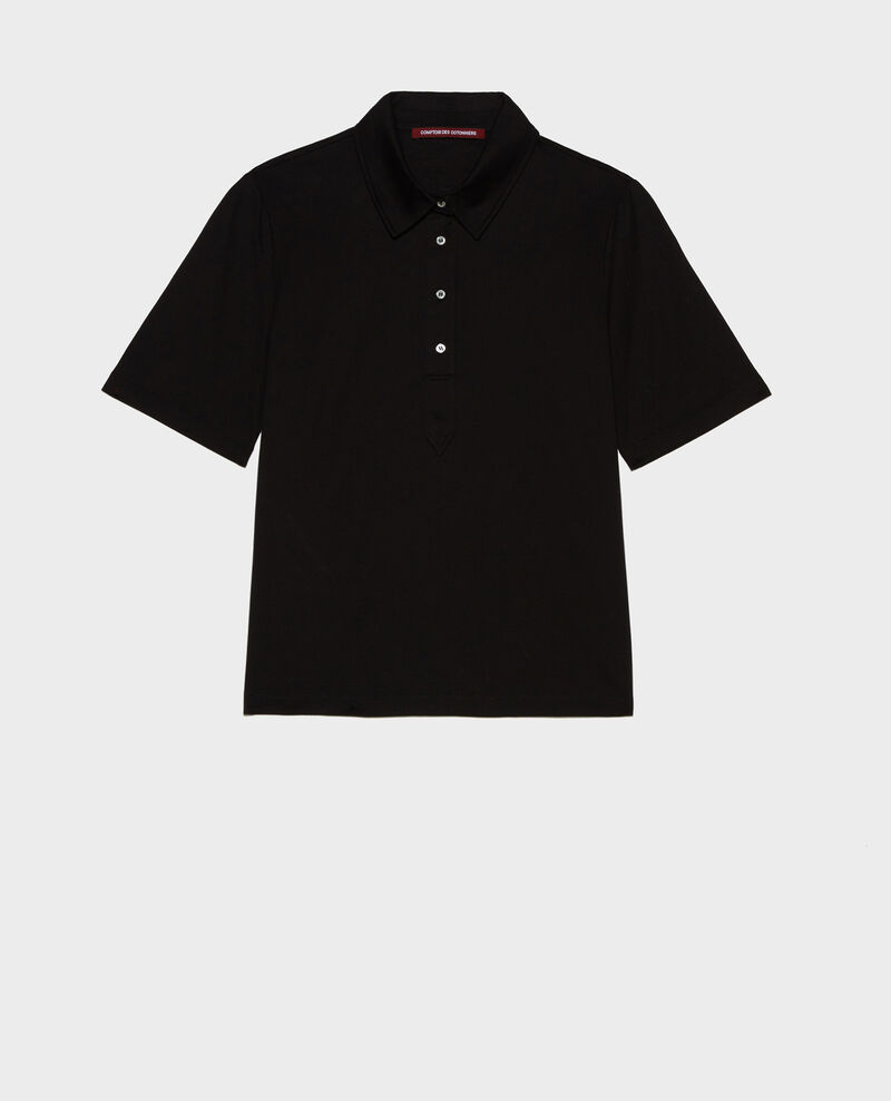 Egyptian cotton polo shirt Black beauty Levas