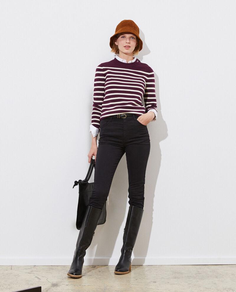 DANI - SKINNY - High-waisted 5 pocket jeans Black beauty Pozakiny