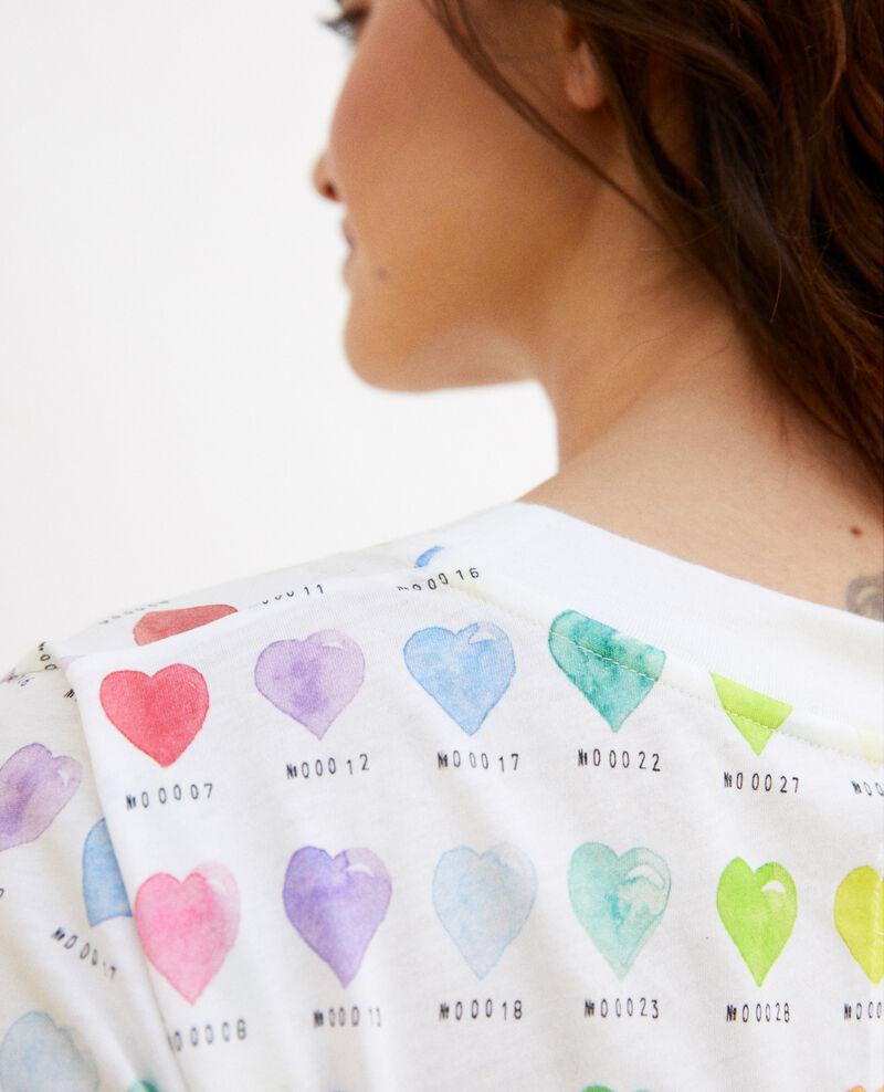 Heart print t-shirt Off white Ilover