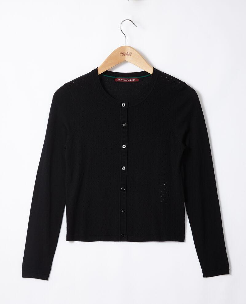 Merino wool cardigan Black Godard
