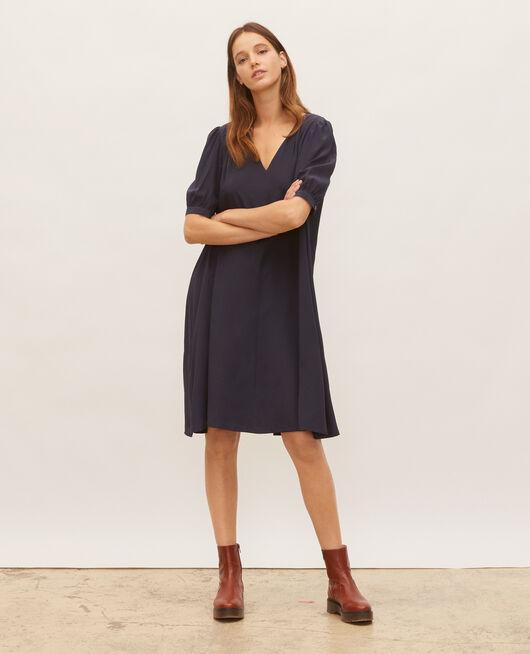 Floaty v-neck silk maxi dress NIGHT SKY