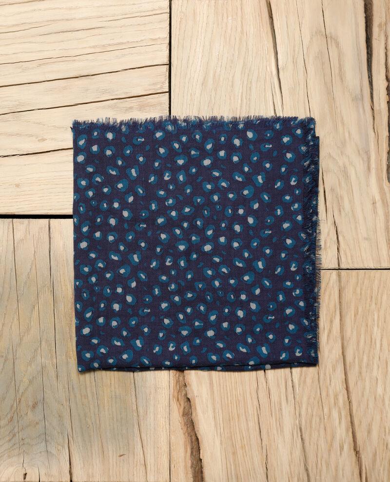 Printed wool scarf Green Grae