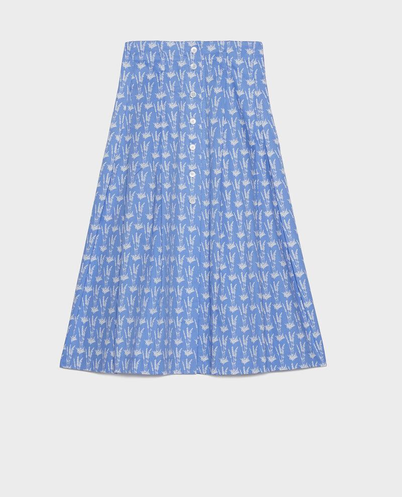 Cotton skirt Moyen lavande persian jewel Louverot