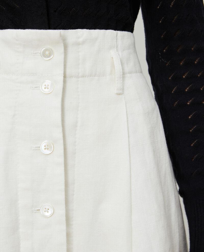 Mid-length linen skirt Gardenia Lorlange