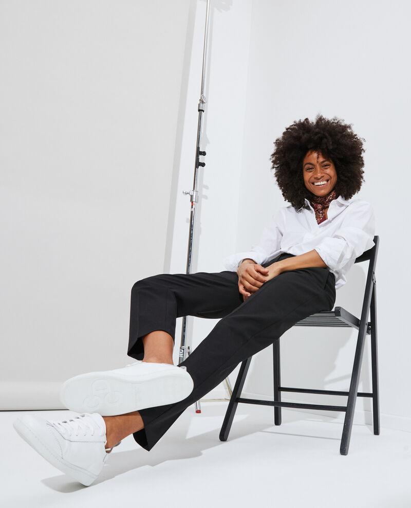 7/8 slim fit trousers MARGUERITE Black beauty Nokeasy