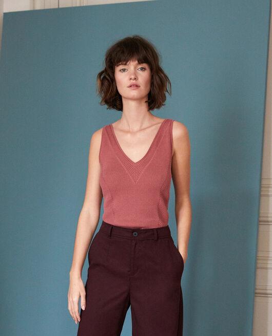 Cotton vest top Red