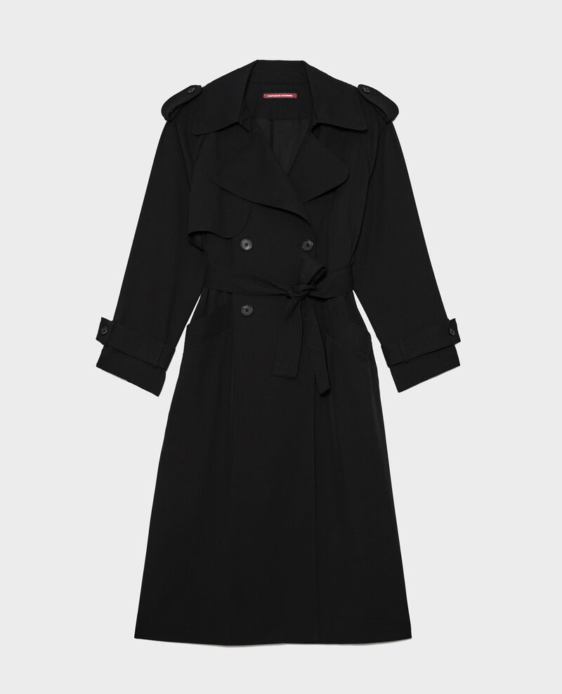 Wool trench  new iconic coat Black beauty Laiko