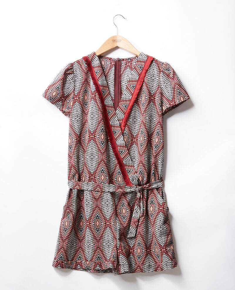 Wrap-over playsuit Brown Fast