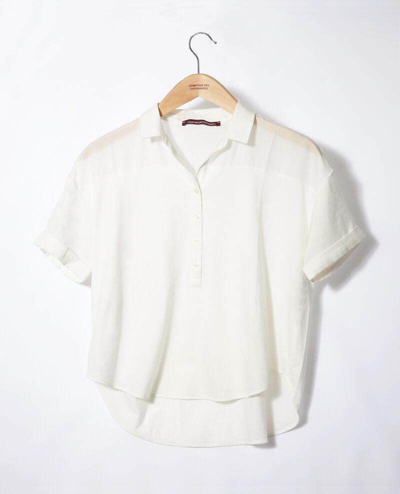 Bimaterial shirt White Gaite