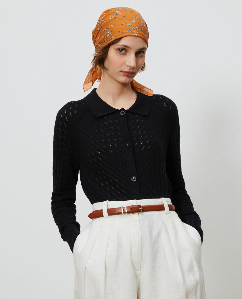 Cotton and linen cardigan Black beauty Novo