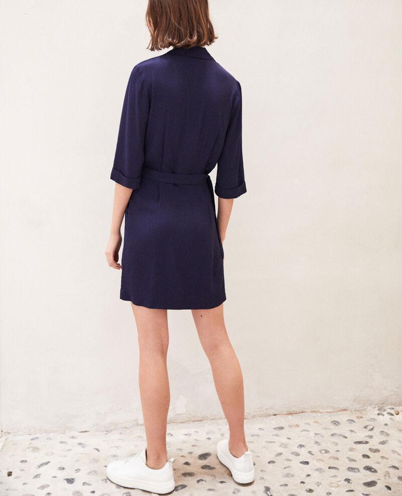 Wrap dress Bleu marine Gideen