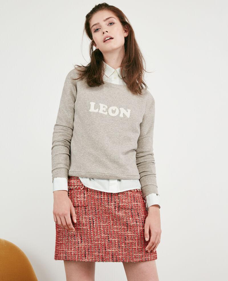 Slogan sweater Light heather grey Dhavirer