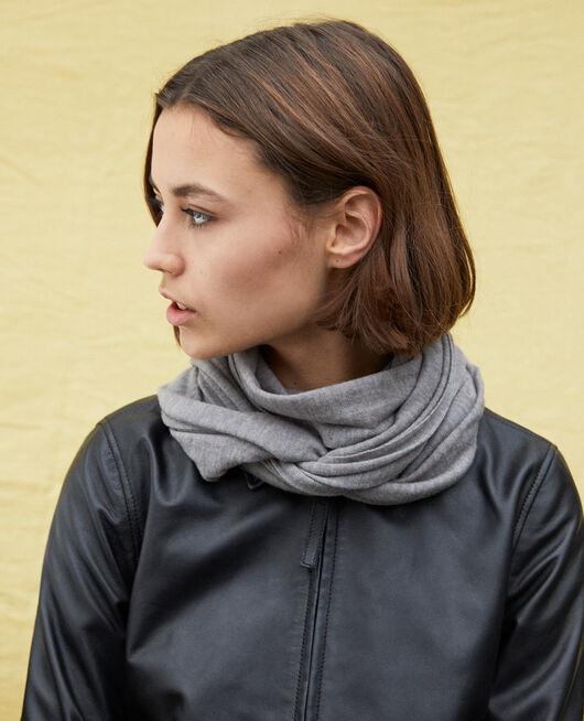 Wool scarf HEATHER LIGHT GREY