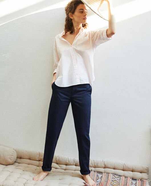 Canvas trousers NAVY BLAZER