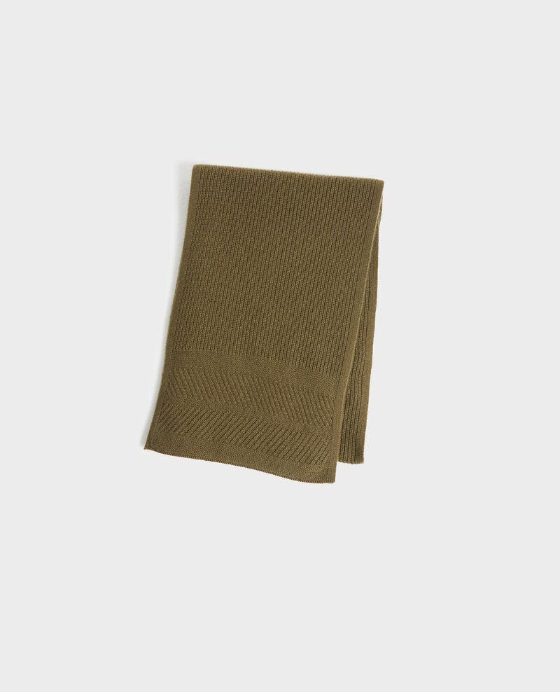 Cashmere scarf Dark olive Plaudie