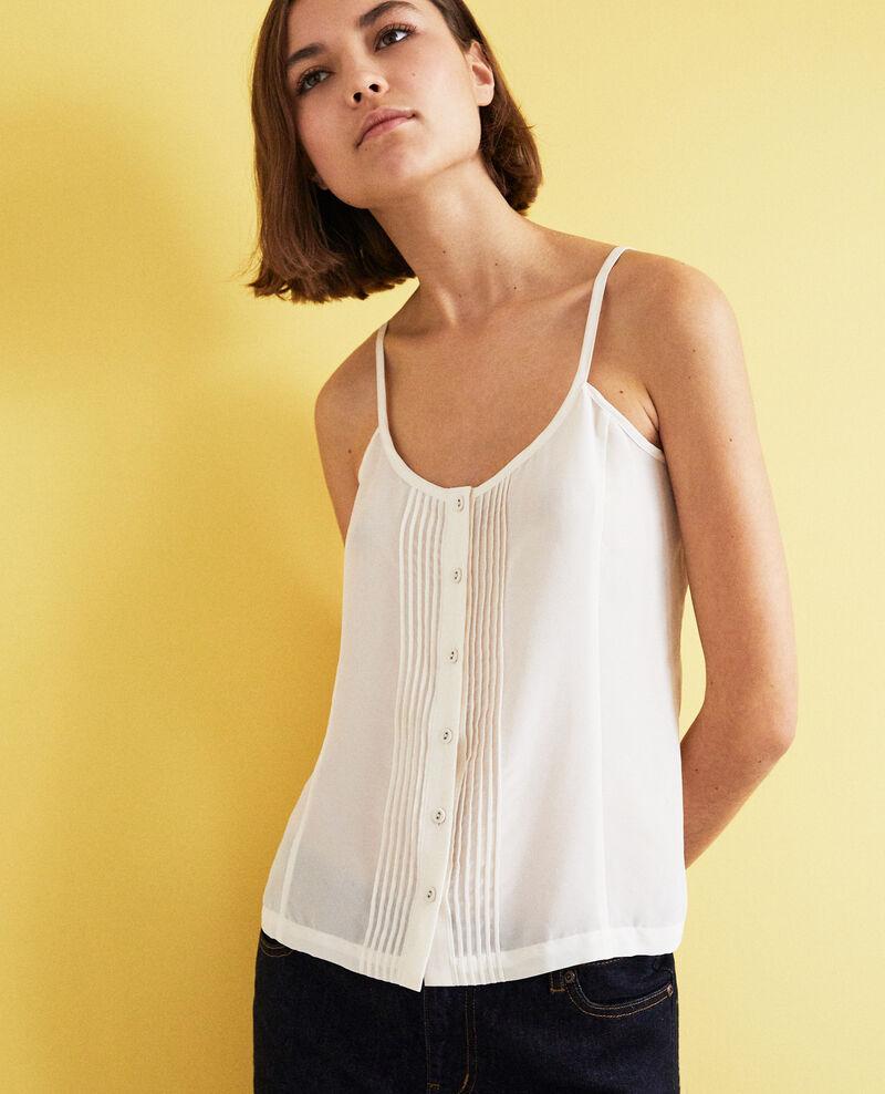 Silk blend cami Off white Ilanning