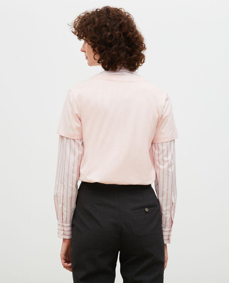 Short-sleeve cotton t-shirt Seashell pink Mara
