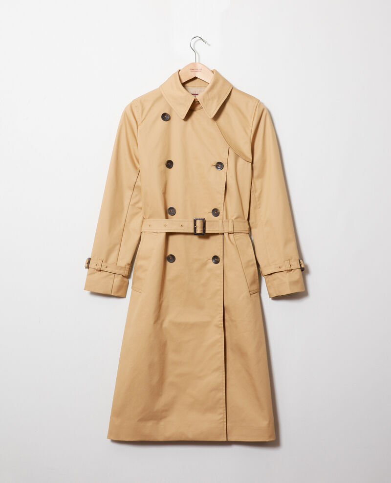 Timeless trench coat Iced coffee Jonquille