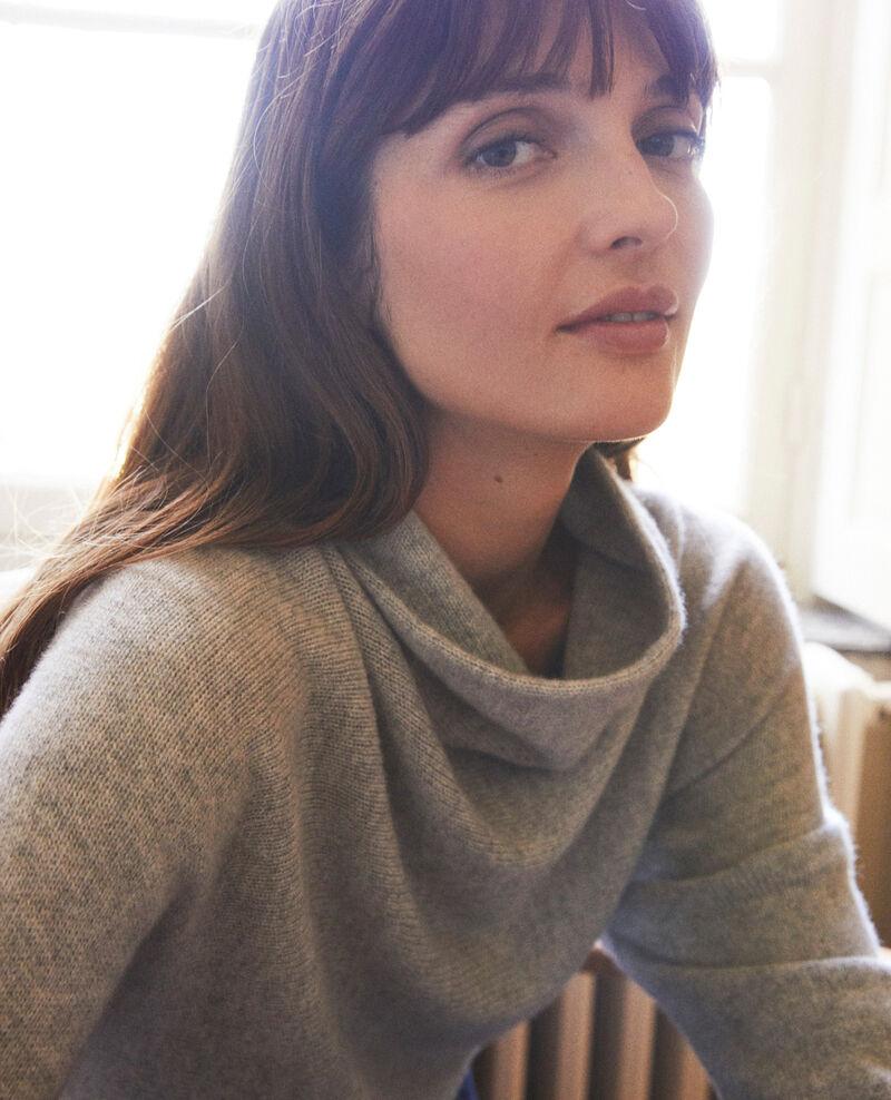 Turtleneck cashmere jumper Light grey Jinette