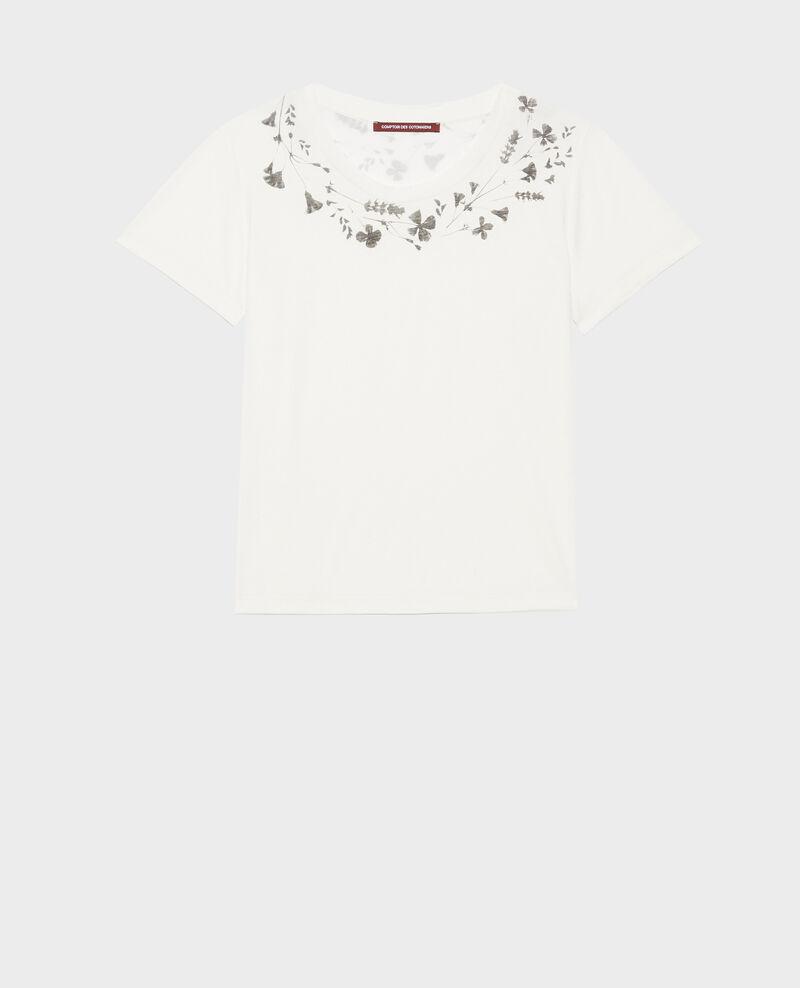 Loose round neck t-shirt Cloud dancer Preaux