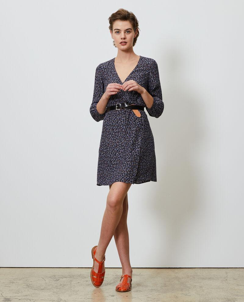 Silk wrap dress Clochette navy Nireclos