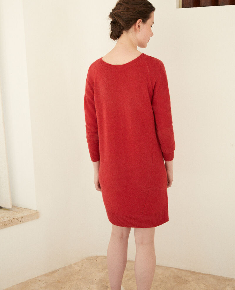 Cashmere dress Pompeian red Gervina