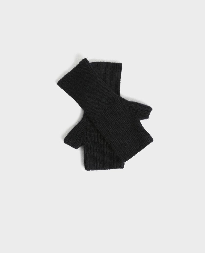 Cashmere mittens Black beauty Poitou