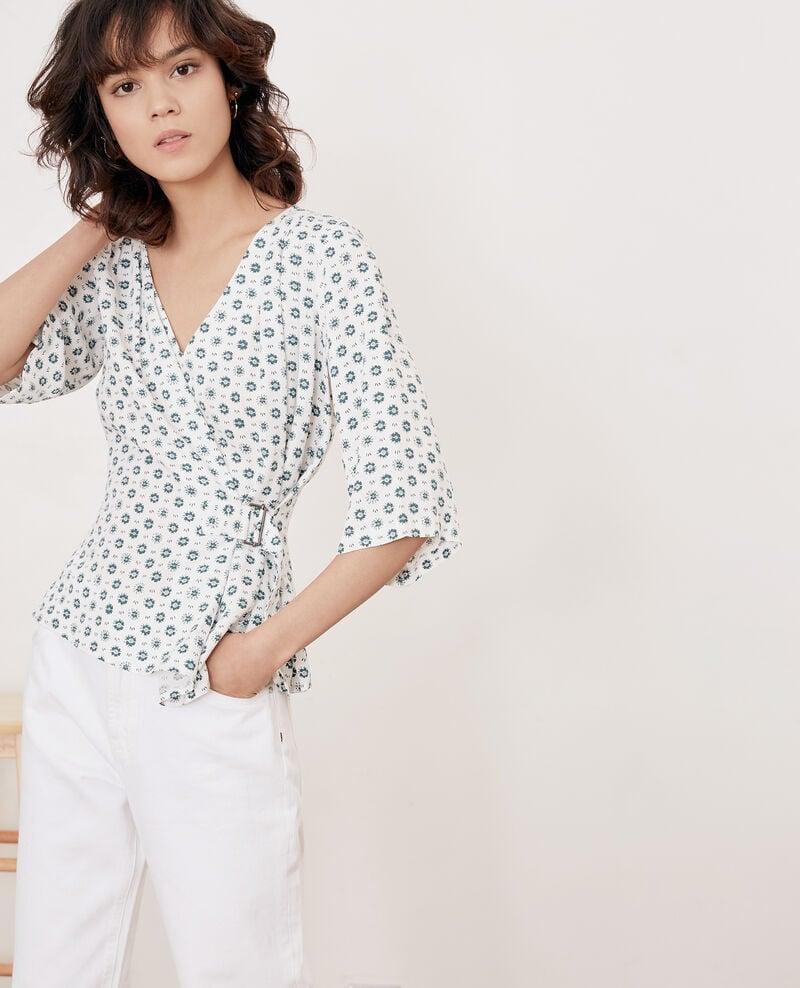 Printed blouse with buckle Dandelion kaolin Fanelie