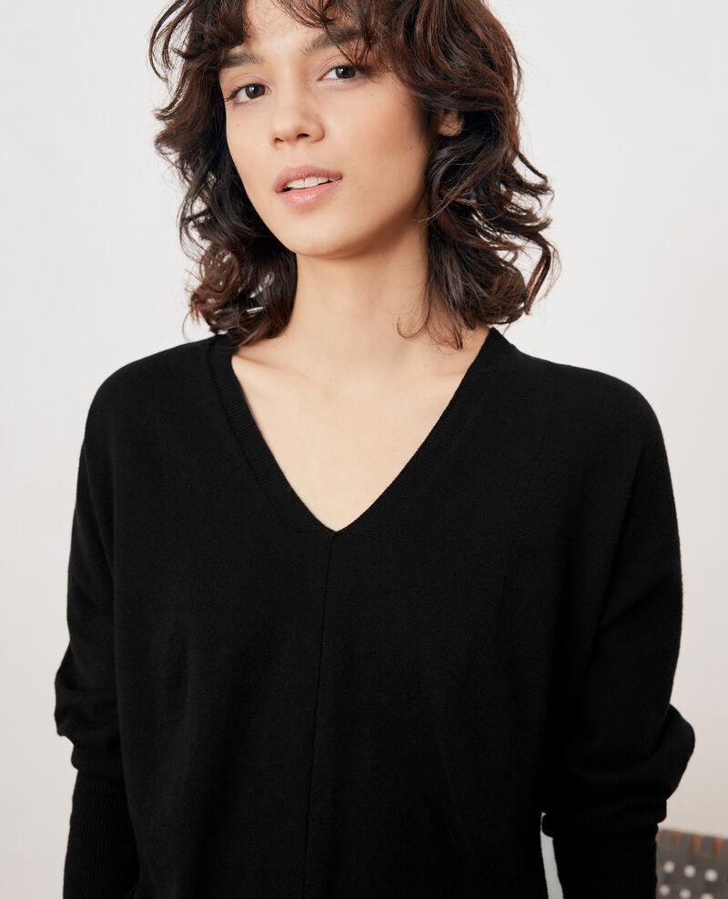Oversize cotton and cashmere jumper Noir Fervent