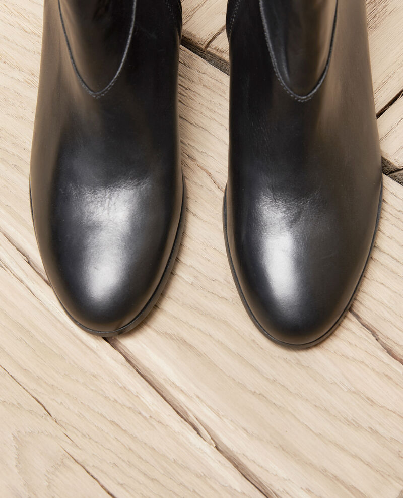Bottines en cuir noir Noir Jayzi