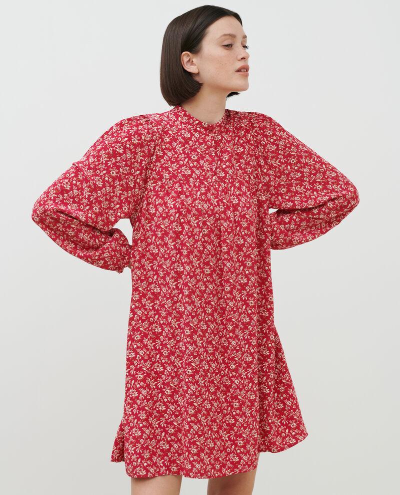 AGLAÉ - Short printed dress Indienne red Palneca